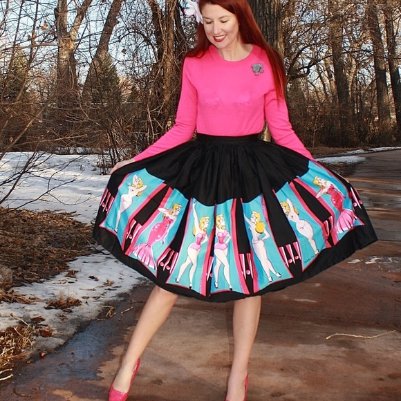 c1a7fcb95cab Pinup Couture Skirts | Pinup Girl Clothing Jenny Skirt In Burlesque ...